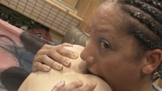 Black Whore Cree Morena Gagging On Dick And Ass