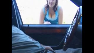 Blowjob,Handjob in the car. (Big tits follow my page Xvideos 4 life!!)   More videos with this girl – likefucker.com