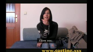 Casting – Hard anal and massive facial for beautiful Teen