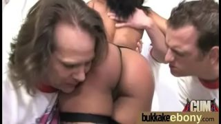 Ebony girl gang banged and covered in cum 18