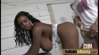 Hot ebony chick love gangbang interracial 18