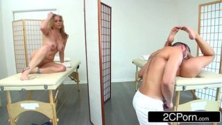 MILF Julia Ann and her Stepdaughter Kendall Kayden Enjoying Big Cock at the Spa