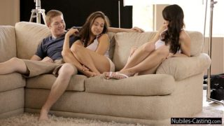Nubiles Casting – An unexpected threesome for teen porn tryout