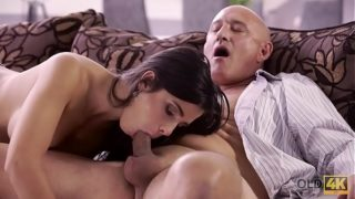 OLD4K. Unsatisfied chick motivated old dad to drill her butthole