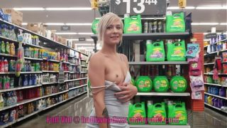 Tiny Teen Public Nudity at Walmart