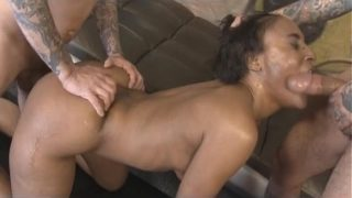 Two Guys Poundin White Cocks In To Black Sh Dynastys Face