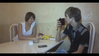 Dissolute pal sells his gf and looks at her getting gangbanged
