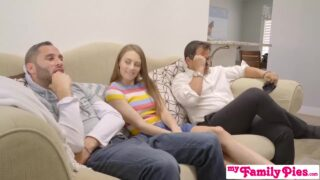 Brother Creampie Sister On The Living Room Couch