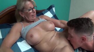 Horny Son At Bed Time With Mature Busty Stepmom