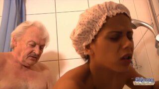 Isabella Fucks Grandpa – Interracial Sex